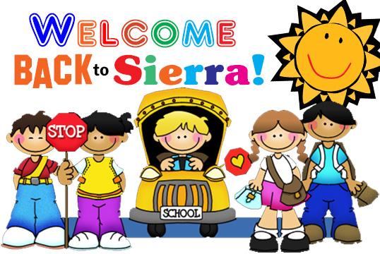 Welcome Back To School – SIERRA PTO